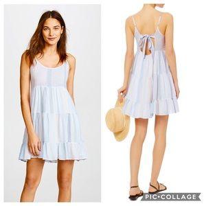Rails Amber Seychelles Stripe Keyhole Back Dress S